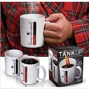 Heat Sensitive Coffee Mug Tank Up White